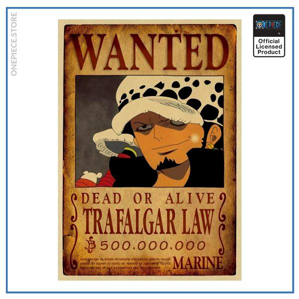One Piece Wanted Poster  Trafalgar Law Bounty OP1505 Default Title Official One Piece Merch