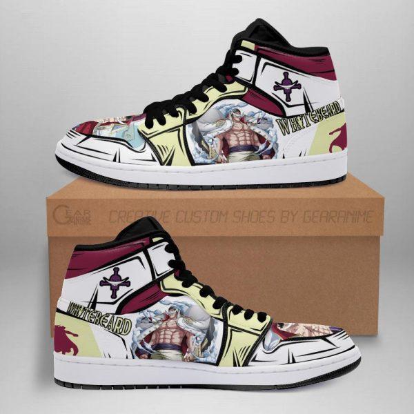 whitebeard jordan sneakers yonko one piece anime shoes fan gift mn06 - One Piece Store