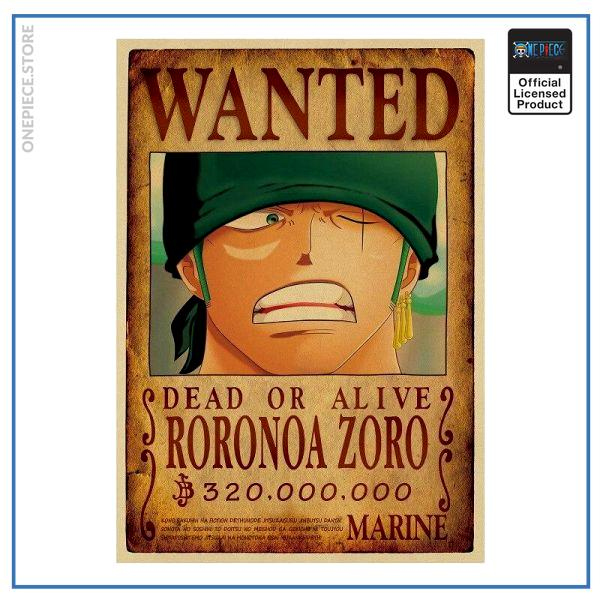 One Piece Wanted Poster  Zoro Bounty OP1505 Default Title Official One Piece Merch