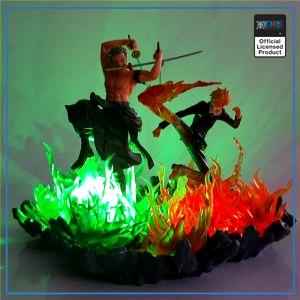 One Piece LED Lamp  Zoro and Sanji OP1505 Default Title Official One Piece Merch