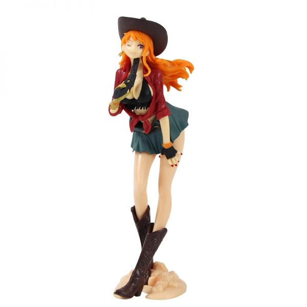 19cm One Piece Action Figures Nami Treasure Cruise World Journey Anime Model Toys 1 - One Piece Store