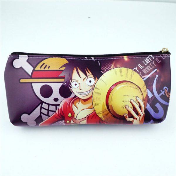 Anime One Piece luffy PU Zipper Pencil Case Student Stationery bag School Pen bag Makeup Case - One Piece Store
