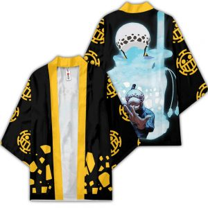 Trafalgar Law Kimono Anime One Piece Otaku Merch Clothes GOT1308 Unisex / S Official One Piece Merch