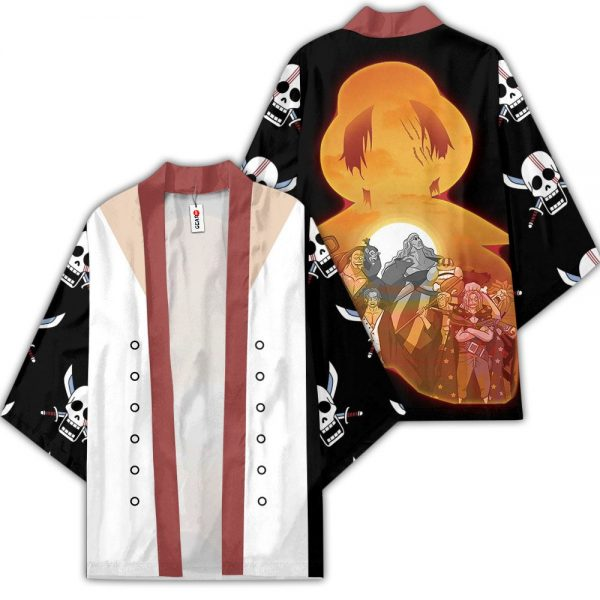 Shanks Red Hair Pirates Kimono Anime One Piece Merch Clothes GOT1308 Unisex / S Official One Piece Merch